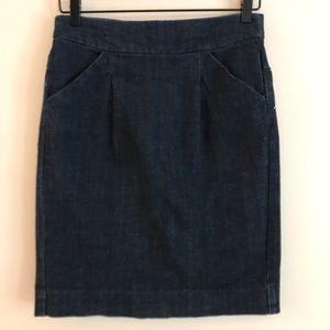J CREW The Pencil Skirt in Denim - 4
